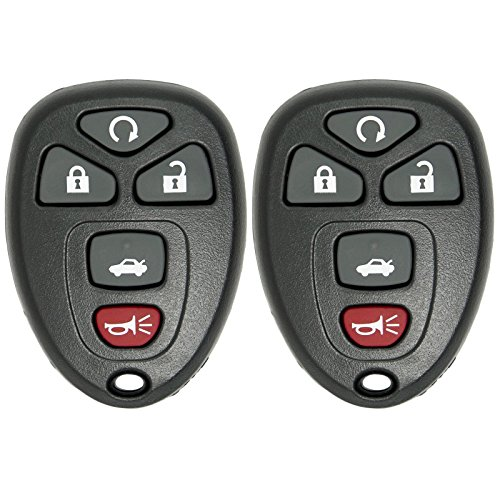 2 Keyless2Go New Replacement Keyless Entry Remote Start Car Key Fob for 22733524 KOBGT04A Malibu Cobalt G5 G6 Grand Prix LaCrosse Allure (Key Remote For Pontiac G6 compare prices)