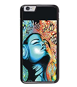 Fuson Premium 2D Back Case Cover Animated Girl With Multi Background Degined For Apple iPhone 6