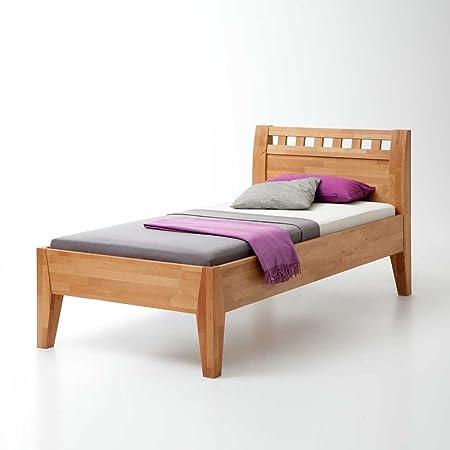 Einzelbett aus Buche Massivholz 100x200 Breite 127 cm Liegefläche 120x200 Pharao24