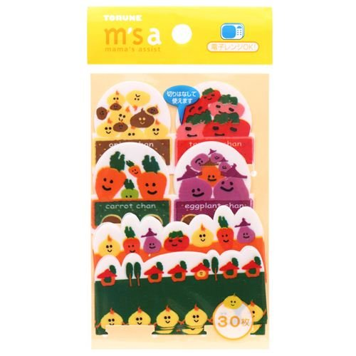 Funny Veggies Baran Divider Sheets For Bento Box Lunch Box