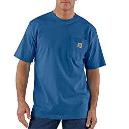 Carhartt Men\'s Workwear Pocket Short Sleeve T-Shirt Original Fit K87,Royal (Closeout),X-Large