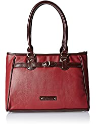 Caprese Women's Satchel Handbag (Red)
