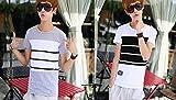夏マリン ボーダー Tシャツ メンズ おしゃれ 半袖 ホワイト グレー