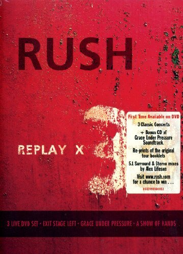 Rush - Replay [3 DVD/CD Box Set] (Grace Under Pressure Tour compare prices)