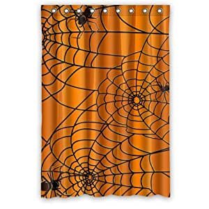 48 X 72 Stylish Living Elegant Halloween Spider Bathroom Shower Curtain For