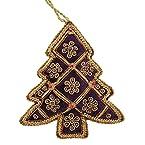 Purple and Gold Velvet Tree Decoration
