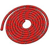 Seilspringen - Springseil 3 Meter - schönes Muster - rot