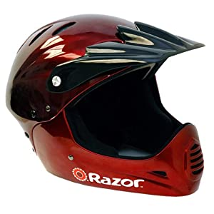 Razor Full Face Youth Helmet (Black Cherry) by Razor