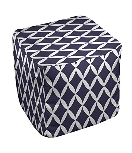 E by design FG-N1A-Spring_Navy-18 Geometric Pouf