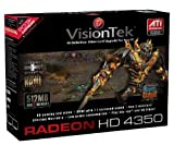51AsUsaPqkL. SL160  VisionTek ATI Radeon HD 4350 512 MB DDR2 PCI Express Graphics Card (900270)
