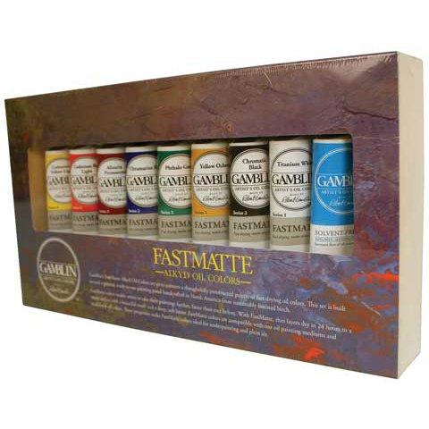 gamblin-fastmatte-alkyd-oil-colors-set