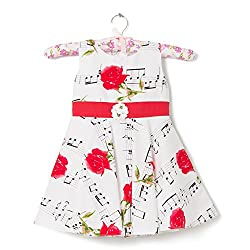 F-Loop Stiched Baby Girls Cotton frocks (F-7-20_White)