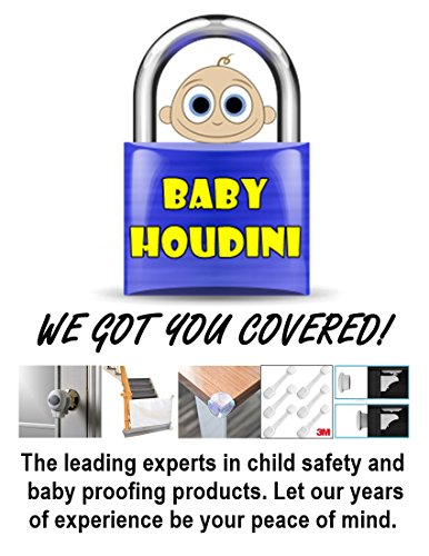 Baby Proofing Adjustable Strap Locks for Child Safety and Child Proofing Your Home, Fridge, Drawers, Stove, Toilet, Dishwasher, Oven and More | Free Bonus - Spare 3M Tape and Installation E-Book
