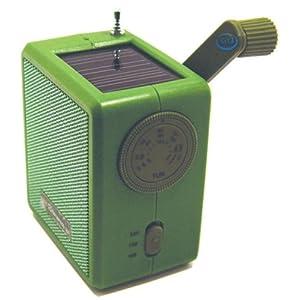 Kikkerland Dynamo Solar and Crank Emergency Radio, Green