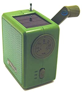 Kikkerland Dynamo Solar and Crank Emergency Radio, Green