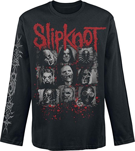 Slipknot Bloody Masks Manica lunga nero XL