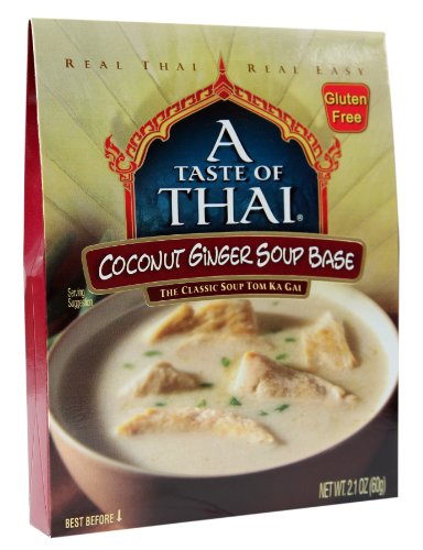 A Taste of Thai Coconut Ginger Soup Base, 2.1-Ounce Packets (Pack of 12) by A Taste of Thai