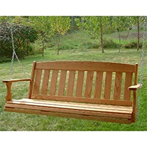 Amazon.com: Amish Outdoor Furniture Hand Made Mission Porch Swing ...
