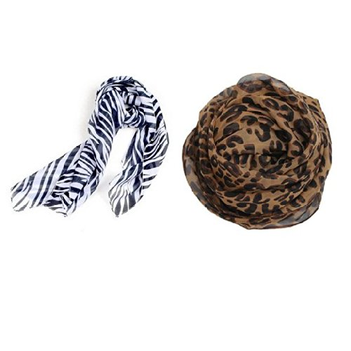 Jovana Large Long Leopard Zebra Print Animal Scarf Elegant Shawl Scarves Wrap Pashmina (Leopard + Zebra)