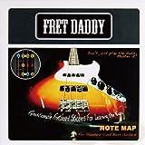 Fret Daddy スケール教則シール ベース用 フレットボードノートマップ