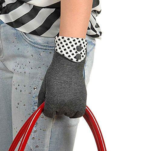DETALLAN Winter Women Touch Screen Warm Wrist Gloves Mittens (Gray)