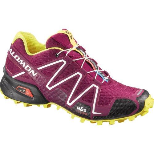 Salomon Speedcross 3 Womens Trail Running Shoes UK 5.5 Mystic Purple Black Fluo Orange
