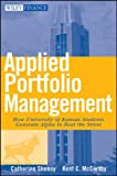 img - for Applied Portfolio Management: How University of Kansas Students Generate Alpha to Beat the Street (Wiley Finance) book / textbook / text book