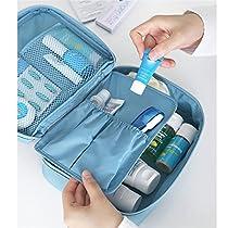 BAIGIO Nylon Travel Storage Toiletry Bag Makeup Cosmetic Cases Organizer Bags Blue