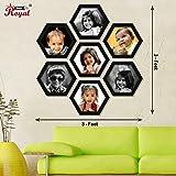 Ajanta Royal Honey Comb set of 7 Individual Photo Frames (7- 8