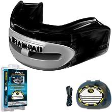 Brain-Pad LoPro+ - Protector bucal/de la articulación mandibular, canal doble, para hombre, negro/gris, tamaño 1