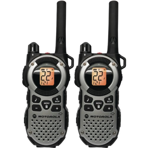 Motorola MT352R FRS Weatherproof Two-Way – 35 Mile Radio Pack – Silver