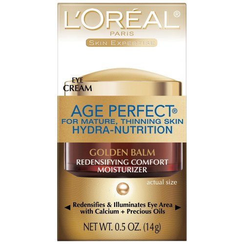 L'Oreal Paris Age Perfect Hydra-Nutrition Golden Balm Eye, 0.5 Fluid Ounce