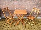 Edelholz Balkon-Set