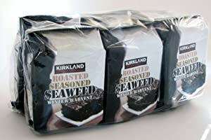 Kirkland Signature Roasted, Seasoned Seaweed Winter Harvest 6 - 17 Gm Packages by Kirkland Signature