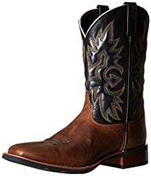 Laredo Men\'s Salt Lick Western Boot, Saddle Tan/Black, 10.5 D US