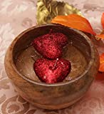 Blackberry Overseas Set Of 2 Decorative Heart Shaped Sparkle Floating Candle
