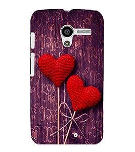 printtech Love Heart Wooden Pattern Back Case Cover for Motorola Moto X XT1058::Motorola Moto X (1st Gen)