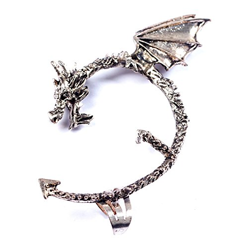 BODYA Vintage Alchemy Gothic Punk Game Thrones Wrap Dragon Ear Cuff Stud Earring Women Jewelry