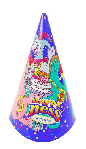 Happy Ness Secret of the Loch Birthday Dinosuar Party Hats - 8cnt.