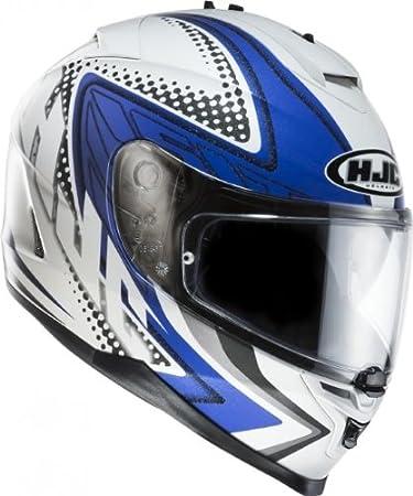 Casque moto hJC iS - 17 motorradintegralhelm tasman mC 21-taille s (55/56 cm) blanc/bleu