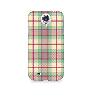 Motivatebox- Checks Love Premium Printed Case For Samsung S4 -Matte Polycarbonate 3D Hard case Mobile Cell Phone Protective BACK CASE COVER. Hard Shockproof Scratch-