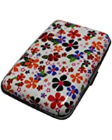 SUNNOW New Fashion Floral Pattern Aluminum Metal Waterproof Pocket Business ID Credit Card Wallet Holder Case Box
