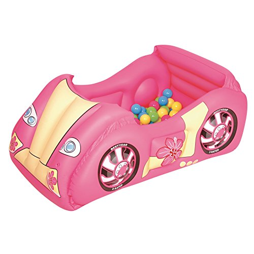 Bestway Race Car And Game Ball Combo, Pink front-28408
