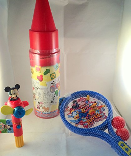 Mickey Mouse Clubhouse Fun Pack Set Includes: Giant Crayon Bank, Mini Racket Set, Light Up Spinner front-86078