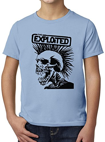The Exploited Band Ultimate Youth Fashion T-Shirt by True Fans Apparel - 100% Organic, Hypoallergenic Cotton- Casual Wear- Unisex Design - Soft Material 9-11 years