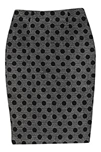Stylenanda Women's Polka Dotted Pencil Skirt M BLACK