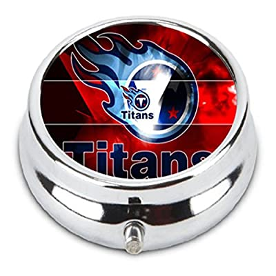 Tennessee TITANS Custom Fashion Pill Box Medicine Tablet Holder Organizer Case for Pocket or Purse