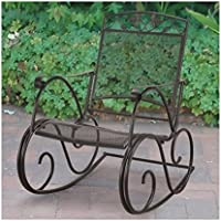 Mainstays Jefferson Wrought Iron Rocking Chair