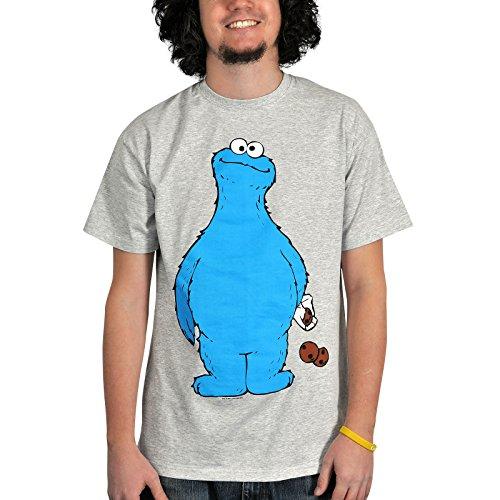 Sesame Street Cookie Thief T-Shirt grigio S