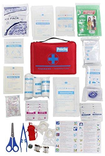 iProtecting-119-pezzi-kit-di-pronto-soccorsocassetta-pronto-soccorso-Perfetto-per-lutilizzo-in-auto-in-casa-per-il-camping-la-caccia-in-viaggio-o-per-lo-sport-Dimensioni-compatte
